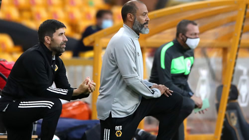 Nuno Espirito Santo: Wolves boss says he will continue to take a knee in support of fight against racism 55goal
